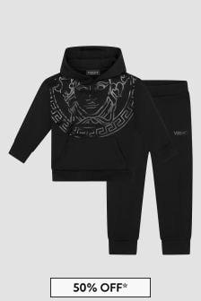 Versace Boys Black Tracksuit