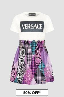 Versace Girls White Dress