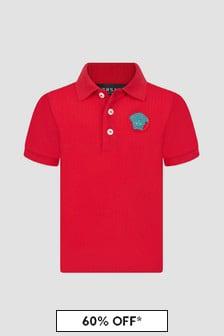 Versace Baby Boys Red Polo Shirt