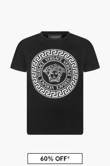 Versace Boys Black T-Shirt
