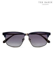 Ted Baker Navy & Tortoiseshell Brown Retro Combination Frame Sunglasses