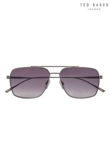 Ted Baker Gunmetal Flat Fronted Metal Navigator Sunglasses