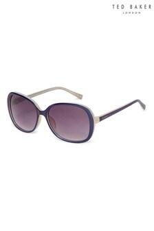 Ted Baker Navy & Camel Oversized Fashion Sunglasses