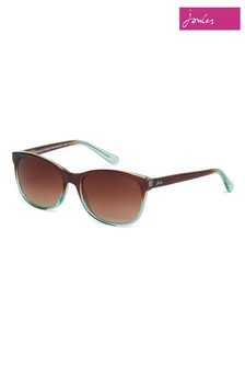 Joules Small Brown & Teal Classic Graduated Bi-Colour Sunglasses