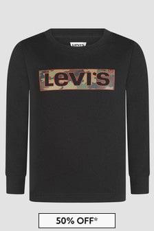 Levis Kidswear Boys Black Sweat Top