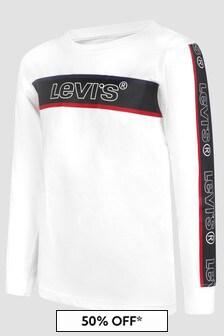 Levis Kidswear Boys White Sweat Top