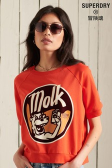 Superdry Workwear Cropped Sweat Crew T-Shirt