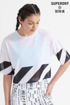 Superdry Running Mesh Crop T-Shirt