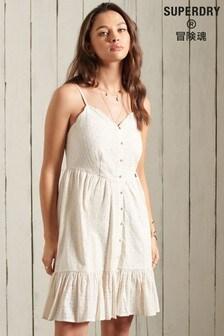 Superdry Broderie Mini Dress