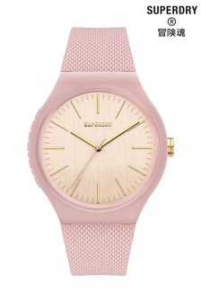 Superdry Pale Pink Silicone Soft Touch Watch