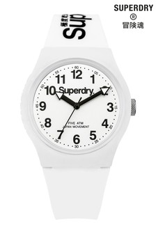 Superdry Urban White Silicone Strap Watch