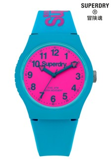 Superdry Urban Teal Silicone Strap Watch