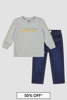 Levis Kidswear Baby Boys Grey Set