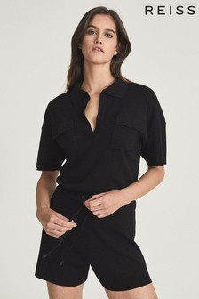 REISS Cara Knitted Twin Pocket Playsuit