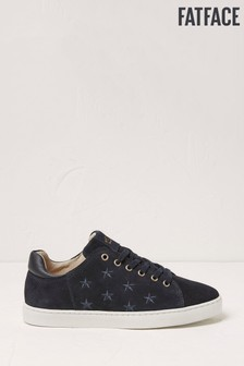 FatFace Blue Thea Suede Star Trainers