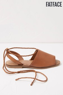 FatFace Tan Rachel Ankle Wrap Sandals