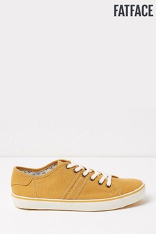 FatFace Yellow Lola Lace-Up Trainers