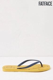 FatFace Yellow Portloe Bee Print Flip Flops