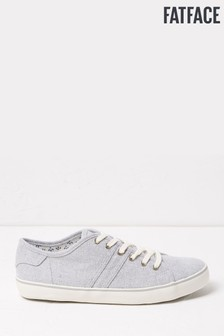 FatFace Grey Lola Lace-Up Trainers