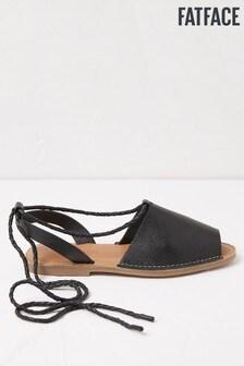 FatFace Black Rachel Ankle Wrap Sandals