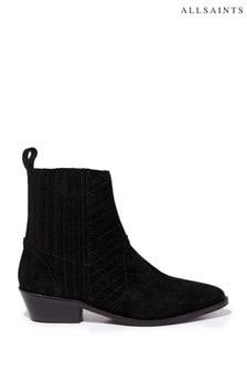 AllSaints Black Fion Boots
