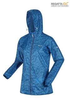 Regatta Blue Printed Pack It Iii Waterproof Jacket