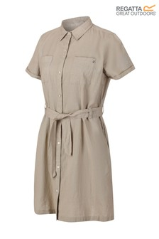 Regatta Cream Quinty Denim Look Tie Dress