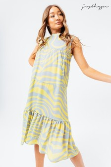 Hype. Lemon Wave Dress