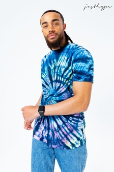 Hype. Mens Blue Tie Dye T-Shirt