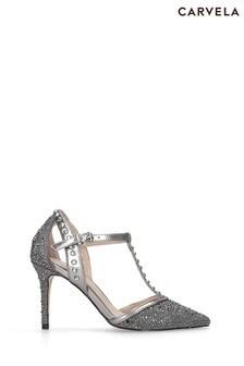 Carvela Chrome Kankan Jewel Shoes