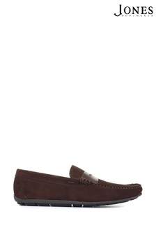Jones Bootmaker Brown Pierson Suede Leather Loafers