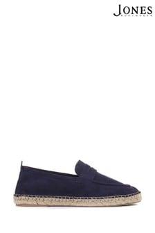 Jones Bootmaker Blue Queensbury Men's Leather Suede Espadrilles
