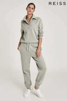 Reiss Leah Cotton Jersey Loungewear Joggers
