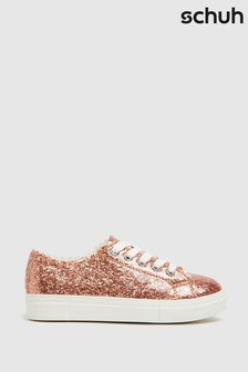 Schuh Pink Majesty Lace-Up Trainers
