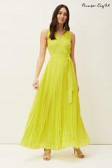 Phase Eight Yellow Molly Chiffon Maxi Dress