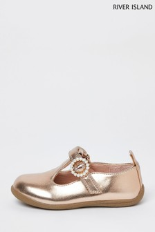 River Island Pink Pearl Shoes
