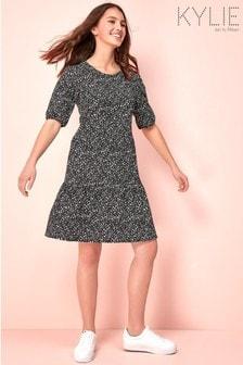 Kylie Black Teen Ditsy Print Dress
