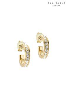 Ted Baker Gold Seenita Nano Hoop Huggie Earrings