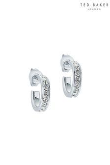 Ted Baker Silver Seenita Nano Hoop Huggie Earrings