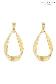 Ted Baker Gold Moanna: Ribbon Loop Drop Earrings