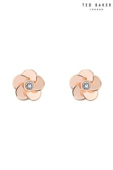 Ted Baker Pink Pelipa Polished Flower Stud Earrings
