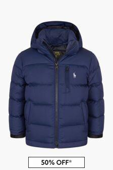 Ralph Lauren Kids Boys Jacket With Detachable Hood