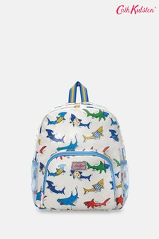 Cath Kidston Kids Summer Sharks Classic Large Backpack with Mesh Pocket