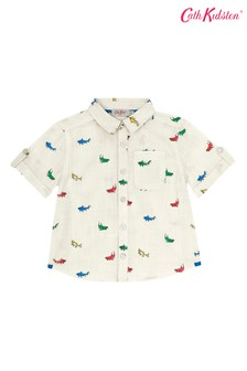 Cath Kidston Small Summer Sharks Oliver Shirt