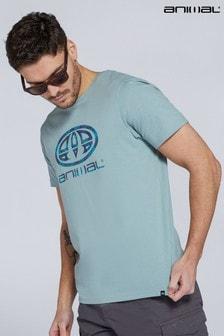 Animal Pale Blue Claw Logo Organic Mens T-Shirt