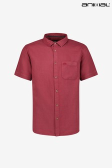 Animal Mens Bayside Linen Cotton Shirt