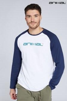 Animal Mens Sander Organic Raglan T-Shirt