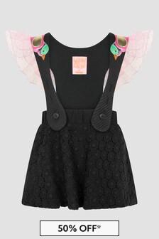 Wauw Capow Girls Black Dress
