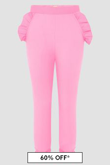 Wauw Capow Girls Pink Joggers