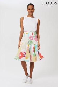 Hobbs White Melina Skirt